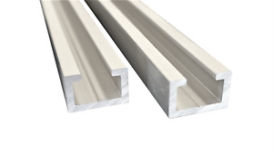 2er Set 1m Aluminium C Profil, Alu Profilschiene, Alu C Profil, passend für M8
