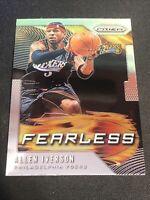 2019-20 Panini Prizm Fearless Allen Iverson #2 HOF Philadelphia 76ers Basketball