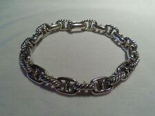 David Yurman Men's .925 Sterling Silver Mariner Marine Rolo Link Bracelet