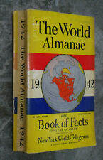 1942 World Almanac-Pearl Harbor & Other WWII News-Sports-Dimaggio-Ads-Stats