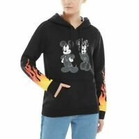 Vans x Disney Punk Mickey Minnie Mouse Hoodie Black Women Checker VN0A3UHWBLK