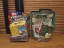Marvel Heroes Figure Factory Spiderman Figure Toy and Hulk Cards (NEW)