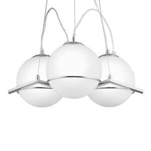 NEG Hängeleuchte Triatero Palloni Pendelleuchte/Hängelampe/Lampe Opal-Glas Kugel