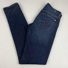 7 for all Mankind roxanne Skinny Jeans Women's Size 25 Stretch Dark Wash