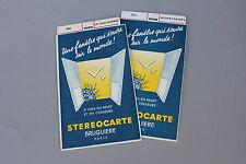 2 ancienne Stéréocarte Bruguiere Le chat botté série 1 2 3865 3866 vue relief