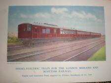 UK Diesel-Electric train for LMSR 1928 colour printed photo