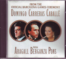 Barcelona Games Ceremony CD Domingo Carreras Caballe on RCA (1992)