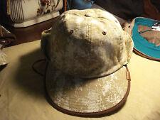 KANGOL-Muslin & Gesso Sunfish Cap Camel/White Splash 100% linen LINED-Large-NWT