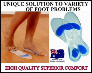 QUALITY SILICONE SHOE INSOLE HEEL METATARSAL PAD CUSHION SUPPORT FOOT FEET PAIN