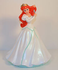 "9.5"" White Wedding Gown Ariel w/ Fork PVC Action Figure Bank Little Mermaid"