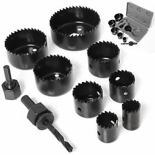 11pc Heavy Duty Hole Saw Cutter Kit 19 22 28 32 38 44 51 64mm Round Drill Set