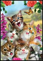 Cat Selfie - Chart Needlework DIY DMC Color Counted Cross Stitch Patterns