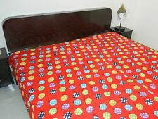 INDIAN KANTHA WORK COTTON KING SIZE BEDSHEET BED COVER BED SPREAD TAPESTRY