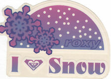 Roxy Sticker - I Love Snow - Decal Surf Swim Snowboard Pink Purple Snowflake