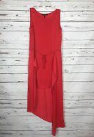 BCBG MAXAZRIA Red Sleeveless Summer Party Dress Women's Size Extra Small XS $268