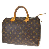 Auth LOUIS VUITTON Speedy 30 Travel Hand Bag Monogram Leather M41526 30AC219