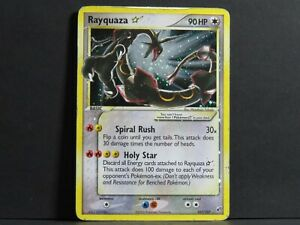 Rayquaza Gold Star 107/107 - EX Deoxys Pokemon Card (Played)