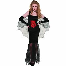 Adult Sexy Vixen Vampire Costume Ladies Dracula Halloween Fancy Dress Outfit