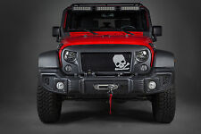 Angry Eyes Grill for 2007- 2018 Jeep Wrangler, Unlimited with Skull & Crossbones