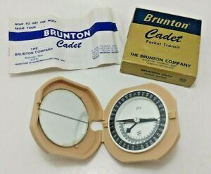 Brunton Cadet Compass Pocket Transit w/ Instructions & Original Box