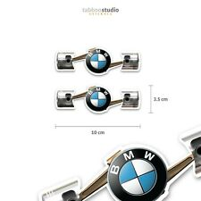 2 Pegatinas boxer BMW Motorrad moto casco vintage stickers dos cilindros twin