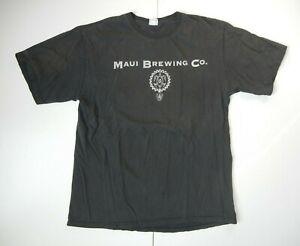 CRAZY SHIRTS Black Cotton MAUI BREWING CO Hawaii Beach Surf Brewery Beer Men XL