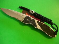 "NTSA KERSHAW USA ""SALVO"" 4 1/2"" CLOSED FRAME LOCK POCKET KNIFE #2445 ST"