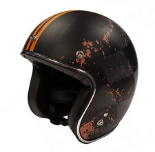 Viper Rs05 Slim Jet Open Face Motorcycle Scooter Bike Road Crash Helmet Chequer M