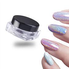 Poudre Laser Holographique Paillettes à Ongles Rainbow Pigment Manucure Chromes