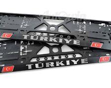 Euro Standart License Plates Frames for Mercedes-Benz with Turkiye Logo 2pcs.