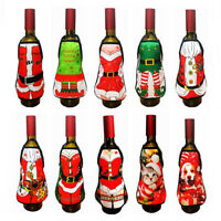 Christmas Santa Wine Bottle Bag Cover Xmas Festival Party Table Decor Gifts HOT