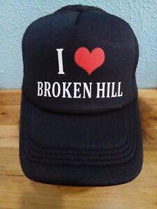 I Love (Red Heart) Broken Hill Truckers Cap, Love & Promote Your Town