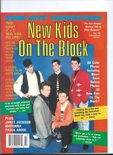 NEW KIDS ON THE BLOCK Song Hits Superstars 1990 GIANT PINUP POSTER MAGAZINE RARE