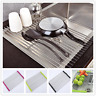 New Kitchen Over Sink Stainless Steel Roll Up Dish Drying Rack Drainer Foldable