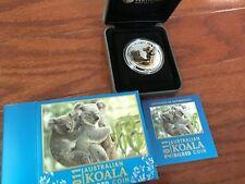 2011 AUSTRALIA GILDED GILT KOALA 1 Oz SILVER COA & BOX