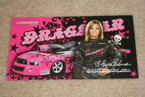"""2009 Erica Enders Dragstar """"2nd Version"""" Ford Mustang Pro Stock NHRA postcard"""