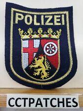 Rhineland-Palatinate Polizei German Rheinland-Pfalz Police Deutschland Used Worn
