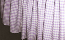 TWIN - Kids Line - Mulberry - Lavendar & White Check Checks BEDSKIRT