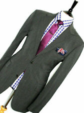 LUXURY MENS HUGO BOSS CHARCOAL GREY TAILOR MADE CLASSIC FIT SUIT 42R W36 x 34L