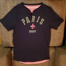 Stade Francais Paris Rugby Shirt ~ Size Xl ~ 100% Cotton