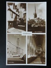 Norfolk NORWICH 4 Image Multiview inc ELM HILL & CITY HALL c1930's RP by Judges