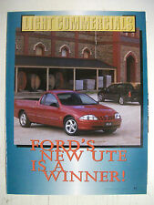 FORD AU FALCON UTE COMPLETE 5 PAGE MAGAZINE PREVIEW ARTICLE