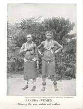 1910 Bakuba Women Showing Wire Armlets And Anklets