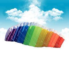 1.4m Outdoor Sports Power Dual Line Stunt Parafoil Parachute Beach Rainbow Kite