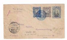 1911 San Salvador, El Salvador, Uprated Stationery Entire to Germany