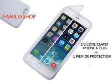 Housse étui pochette coque rabat silicone transparente iphone 6 5.5 PLUS + film