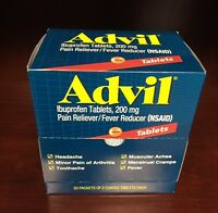 25x2 Tablets Advil (2 Tablets per Pack) Pain Reliever, Fever Reducer EXP 02/2020