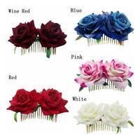 Bridal Boho Rose Flower Hair Comb Clip Hairpin Wedding Party-Hair-HOT E2M1