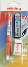 Rotring TIKKY Pencil 0.7 FREE LEADS & ERASER Pastel Red