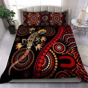 Aboriginal Lizard Sun style Australia  Bedding Set Best Gift